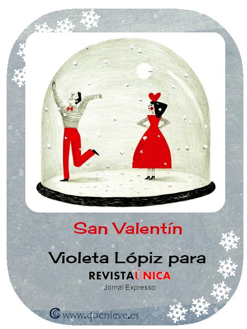 """Bolas de nieve en ilustraciones y dibujos. """"San Valentin"""" by Violeta Lópiz"""