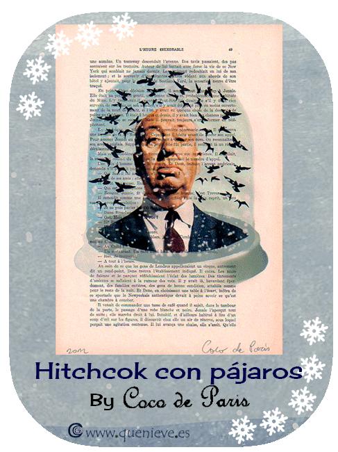 """Bolas de nieve en ilustraciones y dibujos """"Hitchcok con pájaros"""" by Coco de Paris"""