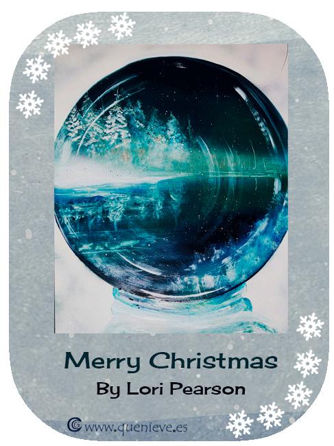 """Bolas de nieve en ilustraciones y dibujos""""Merry Christmas"""" by Lori Pearson"""