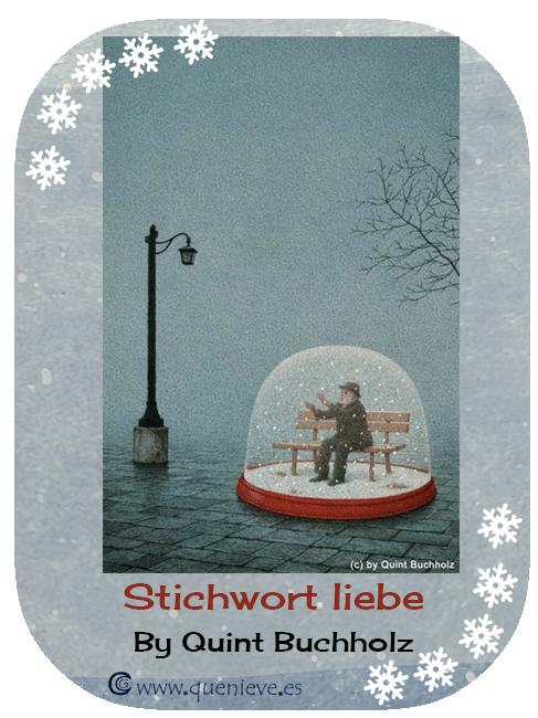 """Bolas de nieve en ilustraciones y dibujos """"Stichwort liebe"""" by Quint Buchholz"""
