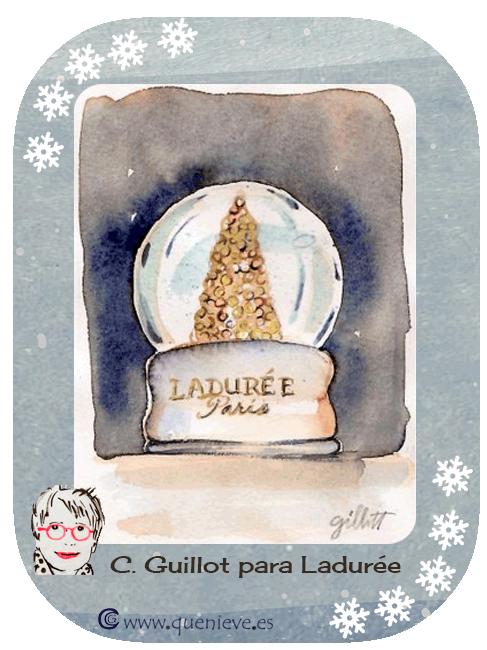 """Bolas de nieve en ilustraciones y dibujos. """"Laduree"""" by C. Guillot"""